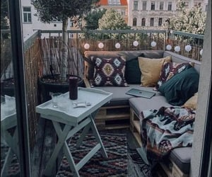 balcony, home decor, and home interior image