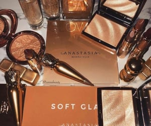 gold, makeup, and cosmetics image