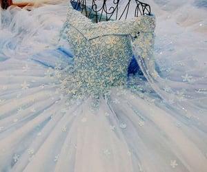 blue, dress, and girls image