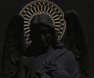 wallpaper, black, and angel image