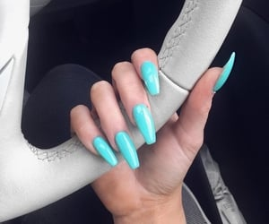 nails, blue, and turquoise image