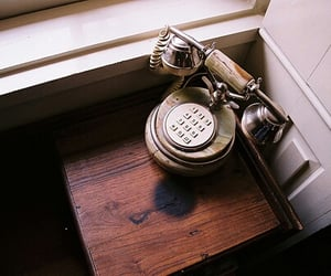 vintage, telephone, and old image