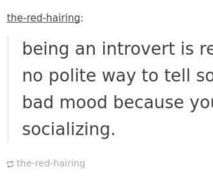 exhausted, introvert, and mental health image