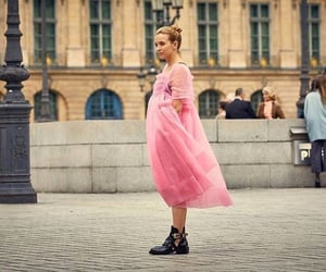 pink dress, killing eve, and street style image