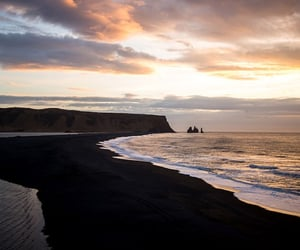 nature, beach, and iceland image