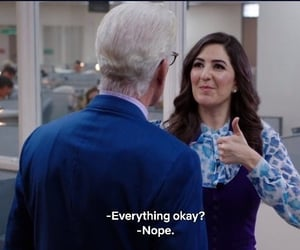 reaction pics and the good place image