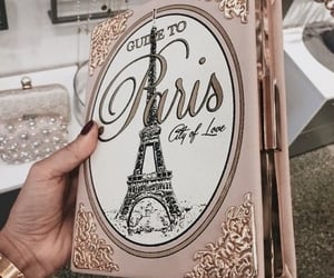 paris, book, and pink image