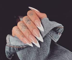 fashion, nails, and tattoo image