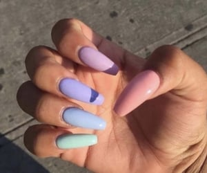 colorful nails, cute nails, and manicure image
