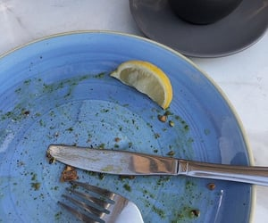 blue, food, and plate image