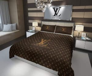 bed, Louis Vuitton, and luxury image