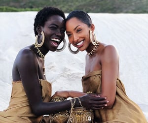 beauty, black woman, and ring image