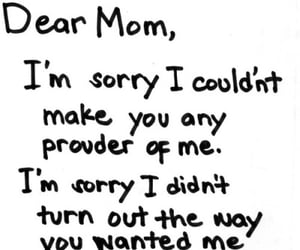 mom, sorry, and sad image