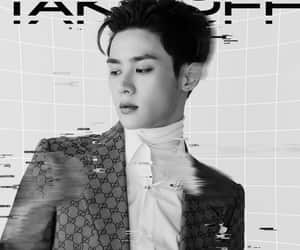black and white, boy, and kpop image