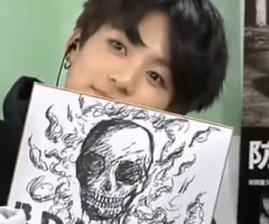 jungkook, bts, and goth image