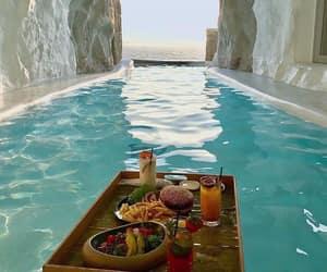 travel, food, and sea image