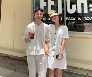 asian, couple, and k fashion image
