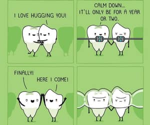 funny, teeth, and tooth image
