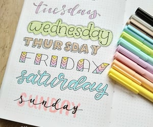 handlettering, bujo, and handlettered image