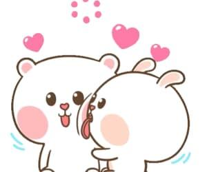 bear, cute, and bunny image
