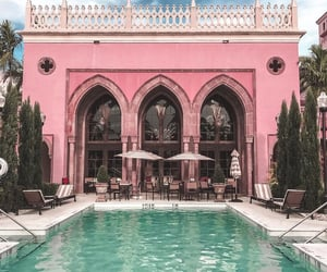 architecture, pink, and pool image