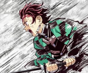 anime, anime boy, and demon slayer image