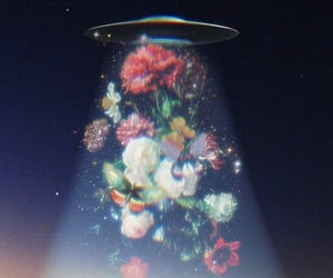 flowers, alien, and art image