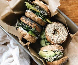 food, bagels, and healthy image