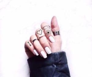 nails, rings, and Tattoos image