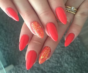 coral, glitter, and long image