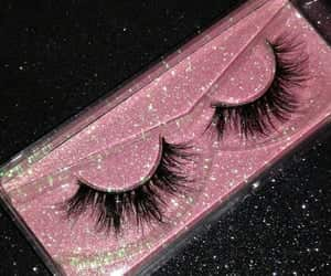 lashes, girl, and makeup image