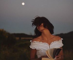 book, photography, and moon image