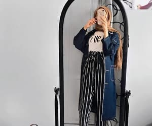 headscarf, mirror selfie, and cute image