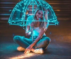girl, lights, and photography image