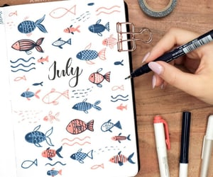 art, fish, and journal image
