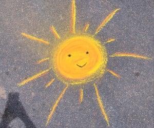 sun, carefree, and chalk image