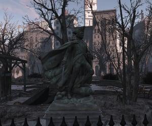 city, dark, and statue image