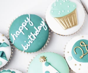 cupcake, food, and happy birthday image