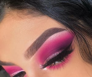 eye, pink, and liner image