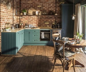 home, kitchen, and blue image