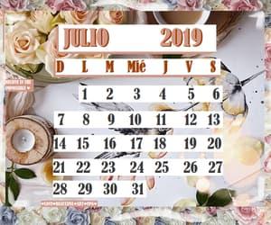 calendar, calendario, and july image