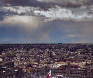 aesthetic, rainbow, and city image