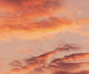 sky, aesthetic, and orange image