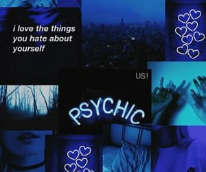 wallpaper, blue, and psychic image