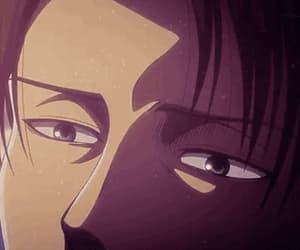 gif, levi ackerman, and anime boy image
