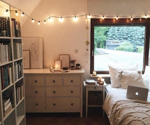 art, bedroom, and books image