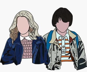stranger, things, and mileven image