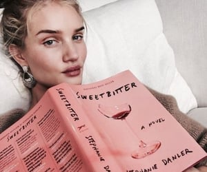 model, book, and beauty image