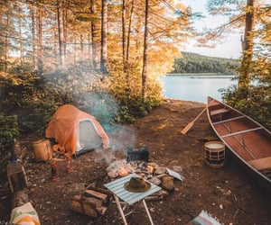autumn, camping, and nature image