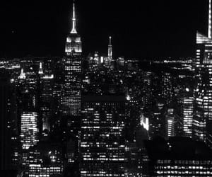black and white and new york city image